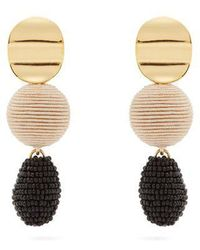 Lizzie Fortunato - Nightfall Cord And Bead-embellished Drop Earrings - Lyst
