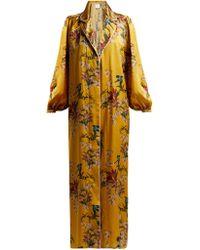 Johanna Ortiz - The Flower Queen Silk Robe - Lyst