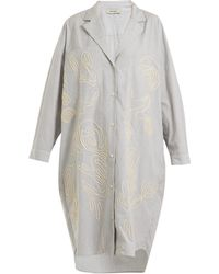Rachel Comey | Risible Embroidered Striped Cotton Shirtdress | Lyst