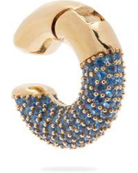 Fendi - Crystal Embellished Single Cuff Earring - Lyst
