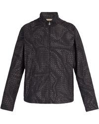 Bottega Veneta - Intrecciato Print Windbreaker Jacket - Lyst