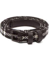 Haider Ackermann - Check Jacquard Leather Belt - Lyst
