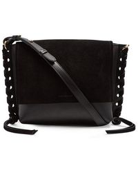 Isabel Marant - Asli Suede And Leather Cross-body Bag - Lyst