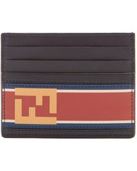 Fendi | Logo-print Leather Cardholder | Lyst