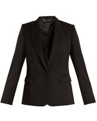 Stella McCartney - Peak-lapel Single-breasted Wool Jacket - Lyst