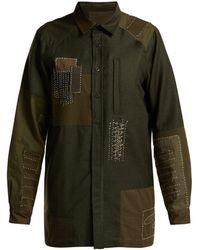Maharishi - Boro Stitched Wool Shirt - Lyst