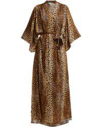 Melissa Odabash - Jules Leopard Print Kimono Kaftan - Lyst