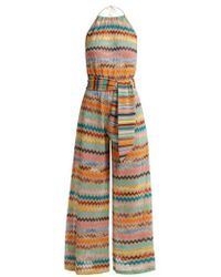 Missoni - Zigzag-striped Lamé Jumpsuit - Lyst