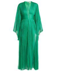 Maria Lucia Hohan - Thais Deep V-neck Silk-tulle Dress - Lyst