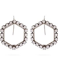 Isabel Marant - Hexagon Crystal-embellished Drop Earrings - Lyst