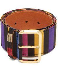 Etro - - Striped Satin Belt - Womens - Multi - Lyst