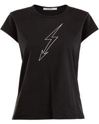Givenchy - Lightning Bolt-print Cotton T-shirt - Lyst