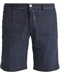 Massimo Alba - Striped Slim-leg Linen And Cotton-blend Shorts - Lyst