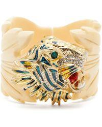 Gucci - Rajah Resin Leaf Bracelet - Lyst