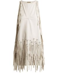 Bottega Veneta   Ring-embellished Fringed Leather Dress   Lyst