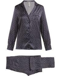 Stella McCartney Elle Leaping Printed Silk Blend Pyjama Set