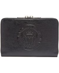 Balmain - Logo Embossed Leather Document Holder - Lyst