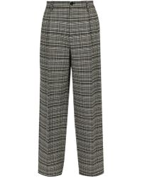 Raf Simons - Relaxed Check Twill Trousers - Lyst
