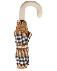 Burberry - Vintage-check Folding Umbrella - Lyst