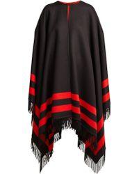 Alexander McQueen - Striped Wool Blend Cape - Lyst