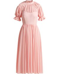 Emilia Wickstead - Philly Ruched Crepe Dress - Lyst