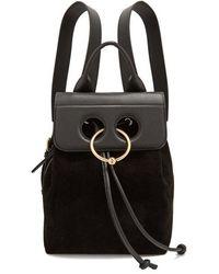 JW Anderson - - Pierce Mini Leather Backpack - Womens - Black - Lyst