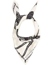 Alexander McQueen - Spider And Jewel-print Silk Scarf - Lyst