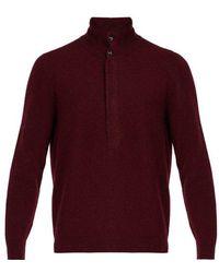 Giorgio Armani - Knitted Wool-blend Jumper - Lyst