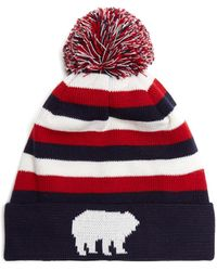 Perfect Moment - Polar Striped Wool-blend Beanie Hat - Lyst