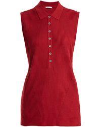 Falke - Golf Ribbed-knit Sleeveless Top - Lyst