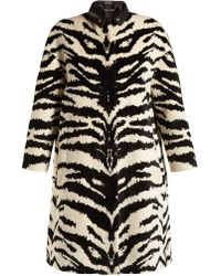 Alexander McQueen - Tiger Jacquard Velvet Coat - Lyst