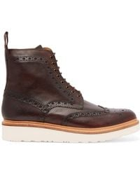 Grenson - Fred Leather Boots - Lyst