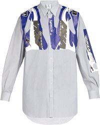 Vetements - Racing Print Oversized Cotton Blend Shirt - Lyst
