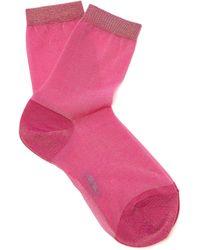 Falke - Metallic Knit Ankle Socks - Lyst