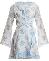 Athena Procopiou Vagabond Long Sleeve Wrap Dress