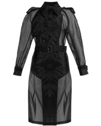 Maison Margiela - Double-breasted Organza Trench Coat - Lyst