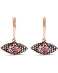 Ileana Makri - Sapphire, Rodolites & Pink Gold Earrings - Lyst