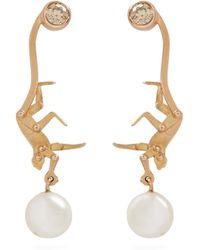 Marc Alary - Diamond, Pearl & Pink-gold Earrings - Lyst