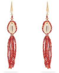Isabel Marant - Aloha Flower And Bead-embellished Earrings - Lyst