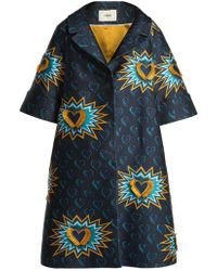 Fendi - Heart Beat Jacquard Coat - Lyst