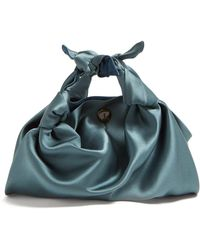 The Row - The Ascot Silk Clutch - Lyst