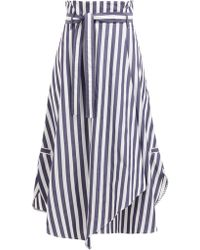 Weekend by Maxmara - Biella Skirt With Blue And White Stripes - Lyst