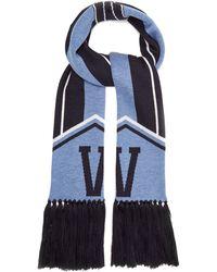 Versace - Logo-intarsia Wool Scarf - Lyst
