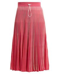 Valentino - High-rise Pleated Jersey Midi Skirt - Lyst