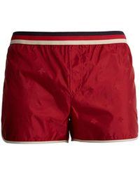 Gucci - Bee-jacquard Web-striped Swim Shorts - Lyst