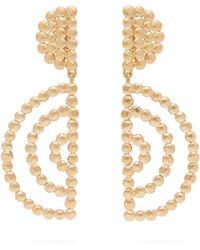 Chloé - Oversized Gold Tone Drop Earrings - Lyst