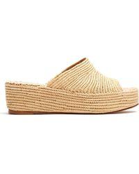 Carrie Forbes - Karim Raffia Flatform Sandals - Lyst