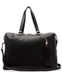 Burberry - - Grained Leather Holdall - Mens - Black - Lyst