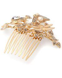 b149b201 Dolce & Gabbana - Crystal Embellished Hair Slide - Lyst
