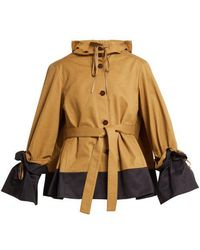 Palmer//Harding - Shadow Hooded Cotton Twill Jacket - Lyst